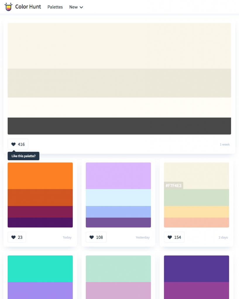 colorhuntのサイトイメージ