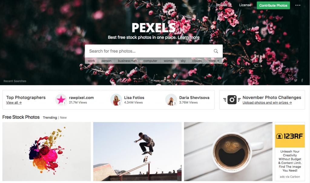 pexels toppage