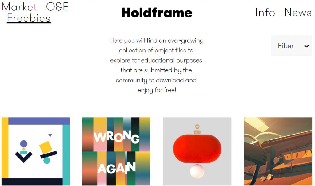 holdframeのfreebies画面スクショ